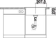 Chiuveta de bucatarie BLANCO PLEON 6 silgranit [3]