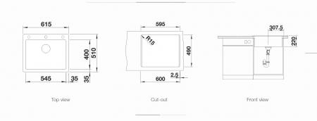 Chiuveta de bucatarie BLANCO PLEON 6 silgranit cu excentric [1]
