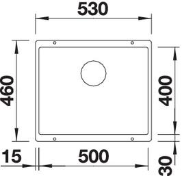 Chiuveta de bucatarie granit BLANCO SUBLINE 500 U Black Edition [5]
