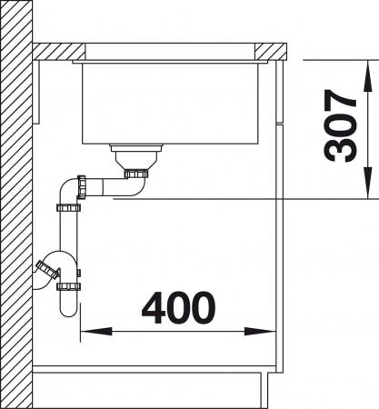 Chiuveta de bucatarie granit BLANCO SUBLINE 500 U Black Edition [2]
