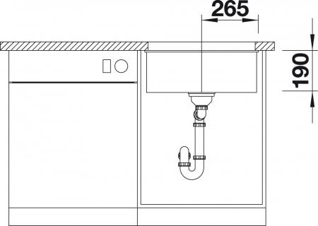 Chiuveta de bucatarie granit BLANCO SUBLINE 500 U [6]