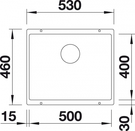 Chiuveta de bucatarie granit BLANCO SUBLINE 500 U Black Edition [4]