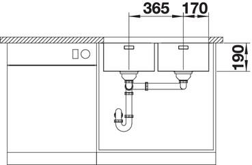 Chiuveta de bucatarie inox BLANCO ANDANO 340/340-U [5]