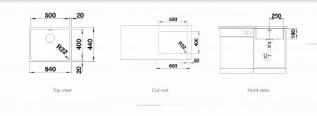 Chiuveta de bucatarie inox BLANCO ANDANO 500-U cu excentric [2]