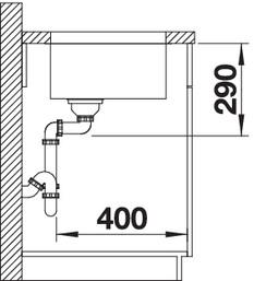 Chiuveta de bucatarie inox BLANCO ANDANO 700-U fara excentric4