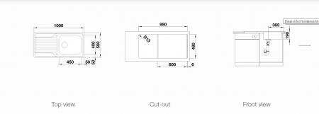 Chiuveta de bucatarie inox BLANCO DINAS XL 6 S cuva reversibila [2]