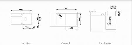 Chiuveta de bucatarie inox BLANCO LEMIS 45 S-IF cuva reversibila [2]