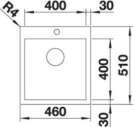Chiuveta de bucatarie inox BLANCO Z-STYLE 400-IF/A2