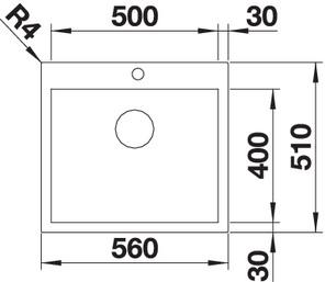 Chiuveta de bucatarie inox BLANCO Z-STYLE 500-IF/A2