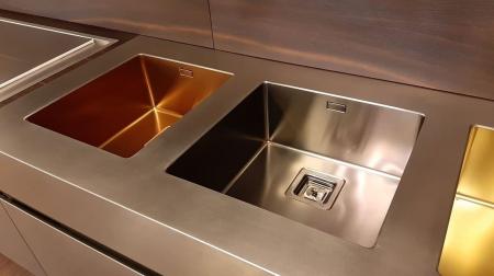 Chiuveta de bucatarie inox PVD ArtInox Titanium 34 culoare antracit [3]