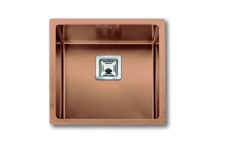 Chiuveta de bucatarie inox PVD ArtInox Titanium 40 culoare cupru [0]