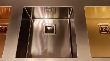 Chiuveta de bucatarie inox PVD ArtInox Titanium 50 culoare antracit [4]