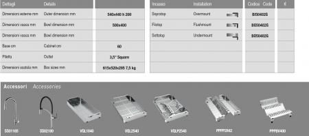 Chiuveta de bucatarie inox PVD ArtInox Titanium 50 culoare aurie [5]