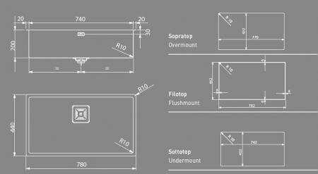 Chiuveta de bucatarie inox PVD ArtInox Titanium 74 cooper, culoare cupru [2]