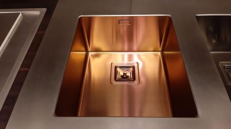 Chiuveta de bucatarie inox PVD ArtInox Titanium 74 cooper, culoare cupru [6]