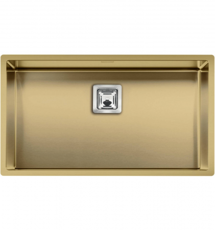 Chiuveta de bucatarie inox PVD ArtInox Titanium 74 gold, culoare aurie [0]
