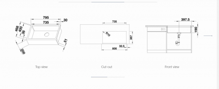 Chiuveta din inox pentru bucatarie Blanco CRONOS  XL 8 U farmhouse [4]