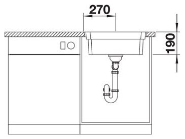 Chiuveta din inox pentru bucatarie Blanco Etagon 500 IF/A5