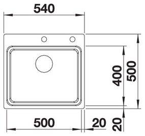 Chiuveta din inox pentru bucatarie Blanco Etagon 500 IF/A4