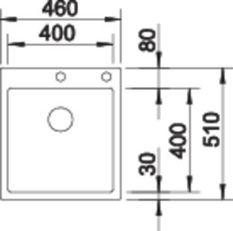 Chiuveta inox Blanco Claron 400-IF/A cu sistem pushcontrol [2]