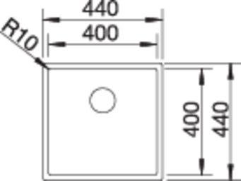 Chiuveta inox Blanco Claron 400-IF, infino [3]