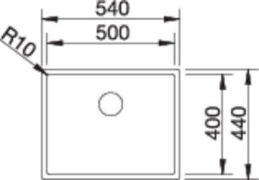 Chiuveta inox Blanco Claron 500-U montaj sub blat [3]