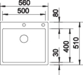 Chiuveta inox Blanco Claron Durinox 500-IF/A cu sistem pushcontrol [2]