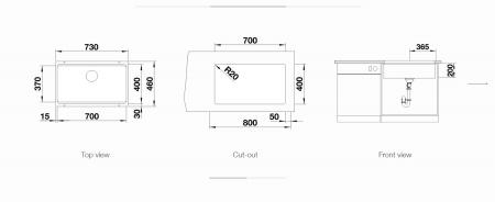 Chiuveta inox Blanco ETAGON 700-U InFino fara excentric [1]