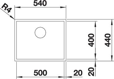Chiuveta inox BLANCO ZEROX 500-U Durinox®  montaj sub blat [2]