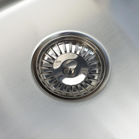 Chiuveta bucatarie cu 2 cuve inox CookingAid UNA 75 cu Bonus: tocator Versus din ABS reversibil in scurgator vase + accesorii montaj [5]