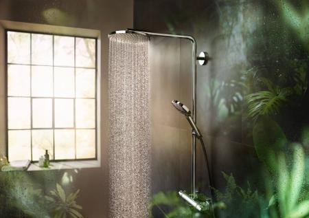 Coloana de dus cu termostat Hansgrohe Raindance Select S negru periat6