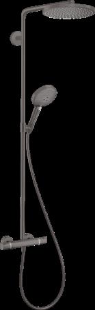 Coloana de dus cu termostat Hansgrohe Raindance Select S negru periat0