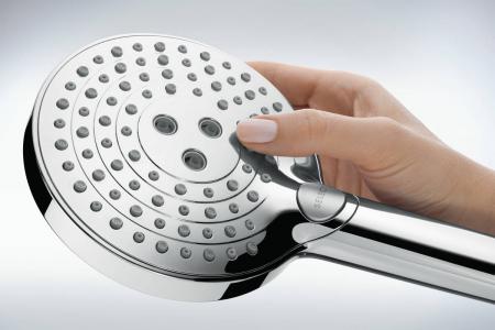 Coloana de dus cu termostat Hansgrohe Raindance Select S negru periat2