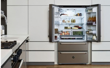 Combina frigorifica Bertazzoni 90 cm Inox design Neutral1