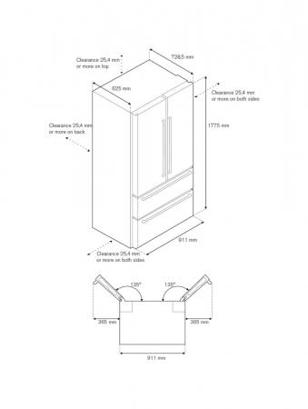 Combina frigorifica Bertazzoni 90 cm Inox design Neutral5