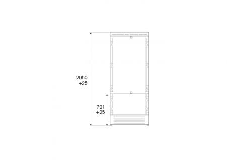 Combina frigorifica  incorporabila Bertazzoni,90 cm design Neutral, seria Profesional5