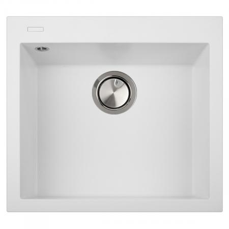 CookingAid Chiuveta bucatarie granit Cube ON5610 Alba / Polar White cu montaj sub blat + accesorii instalare [1]