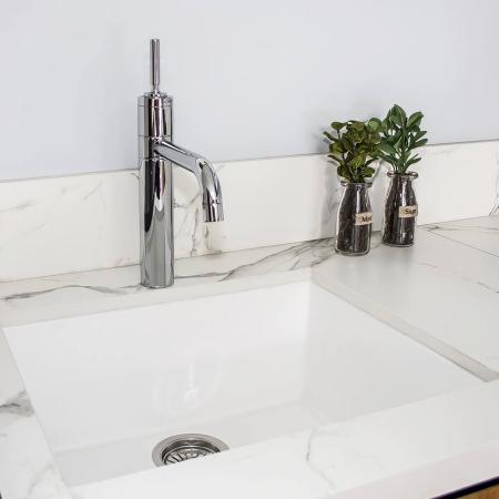 CookingAid Chiuveta bucatarie granit Cube ON5610 Alba / Polar White cu montaj sub blat + accesorii instalare [3]