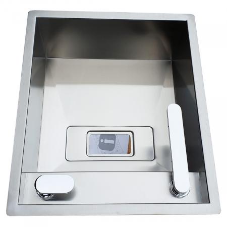 CookingAid Chiuveta bucatarie inox INVISIBLE 40R cu capac scurgere invizibil + accesorii montaj [11]