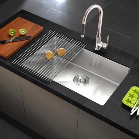 CookingAid Set complet chiuveta bucatarie inox  HERA LARGE + baterie Line MN 1011 [0]