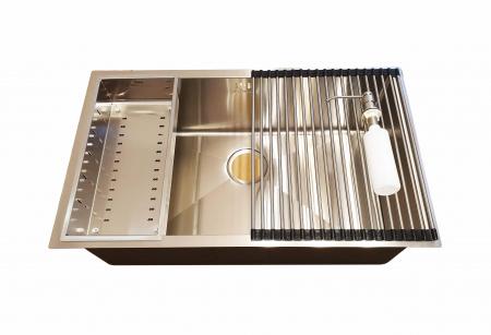 CookingAid Set complet chiuveta bucatarie inox  HERA LARGE + baterie Line MN 1011 [3]