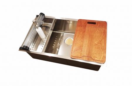 CookingAid Set complet chiuveta bucatarie inox  HERA LARGE + baterie Line MN 1011 [1]