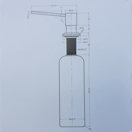 Dozator Sapun 350 ml CookingAid crom cu recipient ABS [4]