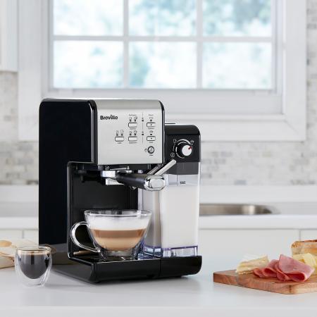 Espressor Manual cu Lapte Prima Latte II Silver Breville12