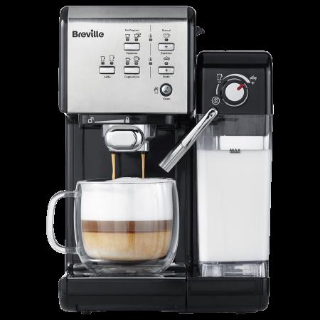 Espressor Manual cu Lapte Prima Latte II Silver Breville0