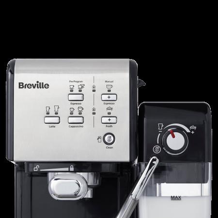 Espressor Manual cu Lapte Prima Latte II Silver Breville6