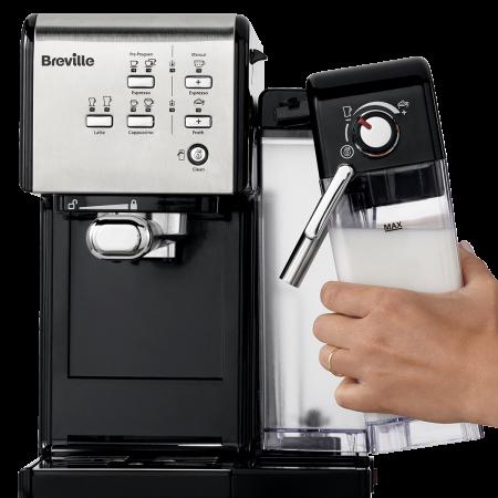 Espressor Manual cu Lapte Prima Latte II Silver Breville9