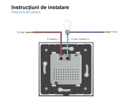 Intrerupator Livolo cu senzor de prezenta / miscare PIR, Zigbee, rama de sticla4