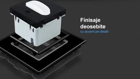 Intrerupator Livolo cu senzor de prezenta / miscare PIR, Zigbee, rama de sticla7