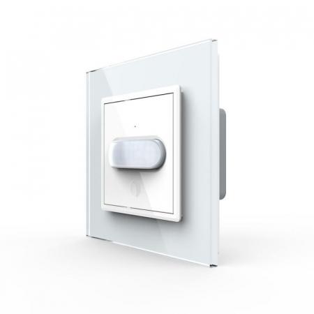 Intrerupator Livolo cu senzor de prezenta / miscare PIR, Zigbee, rama de sticla0